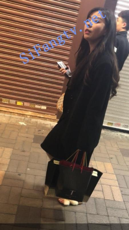 [CD抄底]XG系列206-漂亮的黑色长裙美女下面是白色内裤-福利好好看