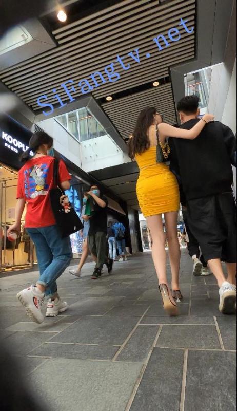 [首发CD]名门夜宴2020街拍系列07-极品身材黄包臀裙美女-福利好好看