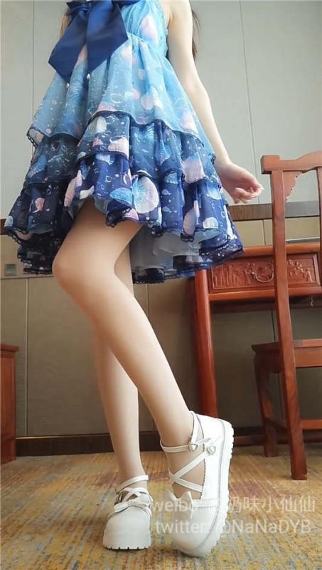 软萌萝莉小仙最新–蓝色洛丽塔[1V/1.45G]-福利好好看