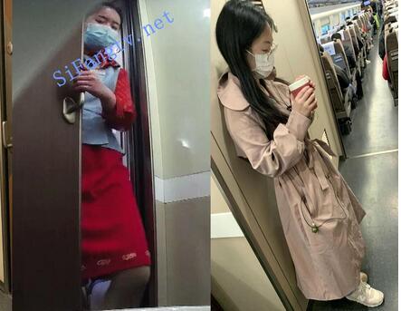 █魔手☛外购█极品厕拍【最新4月高铁】(开档无内裤)