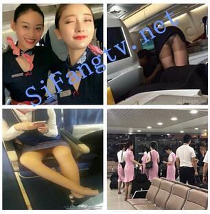 【稀缺航空】空姐兼职约炮、飞机上厕所丝袜诱惑2