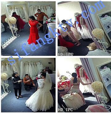 【破解摄像头】婚纱摄影店试婚纱,怀孕新娘内衣都脱了