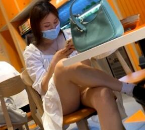 【KingK獨家CD】-SR级-GZ34-白裙美女穿着透明蕾丝NK看见PP缝